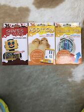 Shapes And Colors, Addition, and Telling Time Flash Cards. Ages 3+