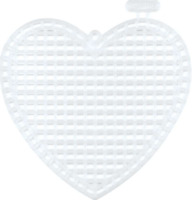 "Darice Plastic Canvas Shapes 7 Count 3"" Pack of 10 Hearts Clear + FREE P&P"