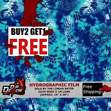 LM BRITE BLUE CRYPTIC-FLUAGE HYDROGRAPHIC WATER TRANSFER FILM HYDRO DIPPING DIP