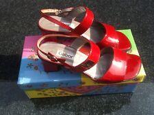 GABOR Lackleder Sandalen rot Größe 5 1/2 38,5