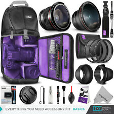 Canon EOS Rebel T6 / T5 / T3 Basics Accessory Kit - Bag, Lens & Battery Included