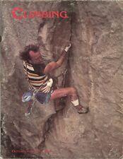CLIMBING Magazine, October 1985 - George Hurley - Southern Sierra - Hueco Tanks