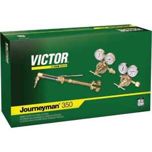 Victor 0384-0804 Journeyman 350 540/510 Acetyl Torch Outfit w/Classic Regulators