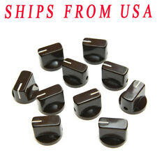 KAISH 10x Guitar AMP Effect Pedal Knobs Davies 1510 Pointer Knob Set Screw Brown