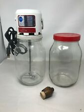 Vintage Sears Roebuck & Co. Electric Churn /Butter Works! w/ extra jar & stamp