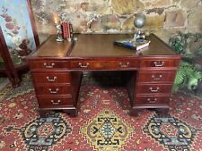 Fine Antique Style Executive Mahogany Double Pedestal Desk~Drawers~Filing