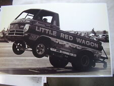 1960 'S DODGE A100 LITTLE RED WAGON ON RACE TRACK    11 X 17  PHOTO   PICTURE