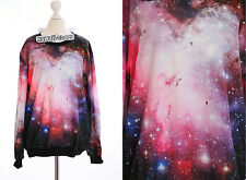 TY-Y129 Gothic Punk Pink Universe Universum Sweatshirt Pullover Harajuku Japan