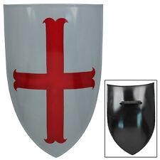 Medieval Templar Knight Heater Battle Warrior Costume Shield Replica