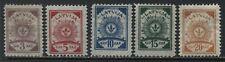 Latvia 1919 5 definitives mint o.g. hinged