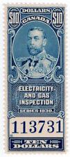 (I.B) Canada Revenue : Electricity & Gas Inspection $10