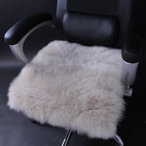 Square Faux Fur Sheepskin Chair Cover Seat Cushion Pad Super Soft Area Couch