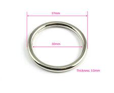 25 Pieces 30mm Nickel Color Welded Metal O Ring For Purse Bag Handbag