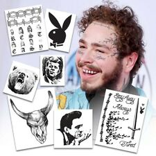 Post Malone Temporary Tattoos | Realist | Life-Sized | Skin Safe