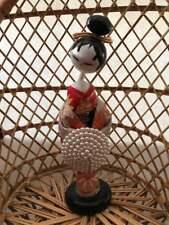 Japanese KOKESHI DOLL  with KIMONO Cloth