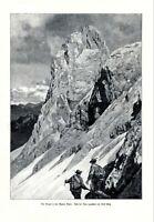 The Gimpel Mountain XL 1906 art print by Ernst Platz Tannheimer Mountains Tyrol