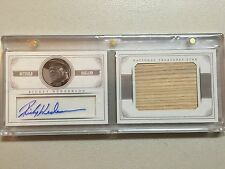 2014 Panini National Treasures Rickey Henderson Auto Bat #5/10 Oakland A's