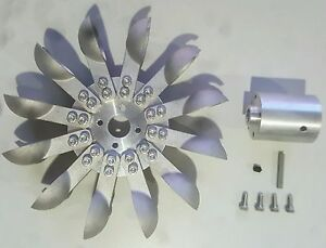 Pelton Water Wheel Turbine,Aluminum,Micro Hydro Generator w/Adapter free ship US