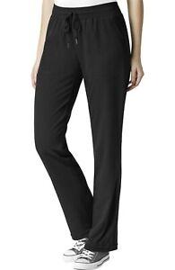"Wink Scrubs #5129 Knit Drawcord Waist Scrub Pant in ""Black"" Size XS"