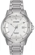 New Citizen Eco Drive Men's Super Titanium Bracelet Watch AW1490-50A