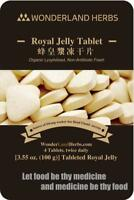 100 Grams ORGANIC bee milk ROYAL JELLY Tablet, 6% 10-HAD, Anti Aging Energy Herb