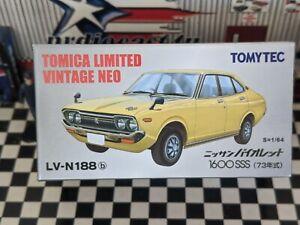 TOMICA LV-N188b NISSAN VIOLET 1600SSS NEW IN BOX LIMITED VINTAGE NEO