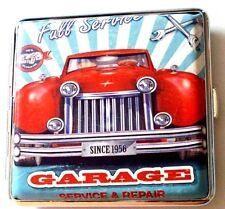 Étui à cigarettes pour 18 cigarettes retro design voiture NOSTALGIE garage service nouveau!