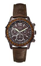 GUESS Reloj de las mujeres W0017L4 Análogo Cronógrafo Cuero Marrón