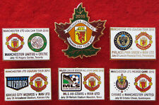 MAN UTD US/CANADA TOUR 2010 SET OF 6 GAME BADGES