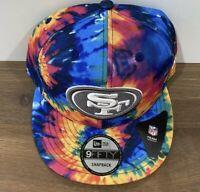 New Era 2020 San Francisco 49ers NFL Crucial Catch 9Fifty Tie-Dye Snapback Hat