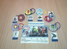 MARVEL SPIDERMAN & AVENGERS COMPLETE SET WITH ALL PAPERS KINDER SURPRISE 2017