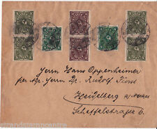 Germany - 1923 Cover Franked by 100mk rate by Posthorns 4mm & 8m & 30mk