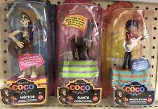Set Of 3 Disney Pixar Movie Coco In Motion MIGUEL, DANTE & HECTOR Figures NEW