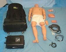 Meti ECS100 Emergency Care Simulator Medical Training Manikin w/ PCU,Cart,Hoses