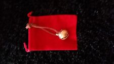 Polar Express Reindeer Bell #1  Solid Brass Bell w/brown tie & Red Bag