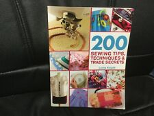 200 Sewing Tips, Techniques, And Trade Secrets by Lorna Knight, craft book