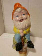 Vintage 1977 Duncan Entetptises Ceramic Water Plant Watering Spike Garden Gnome