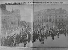1917 HONGRIE COURONNEMENT ROI CHARLE IV UNIFORME BUDAPEST PALAIS ROYAL
