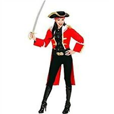 Ladies Red Pirate Captain Woman Costume Medium Uk 10-12 For Buccaneer Fancy -