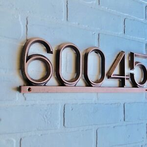 "Industrial Copper Address Plaque:16 1/2"" X 5 1/2"" Horizontal House Numbers"