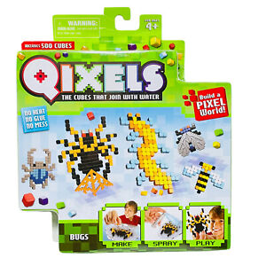 Qixels BUGS Theme Pack 500 Cubes Build A Pixel World Water Cubes New Sealed