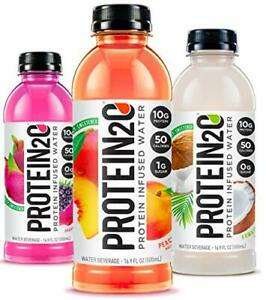 Protein2o Low Calorie Protein Infused Water 10g Whey Protein Isolate Variety ...