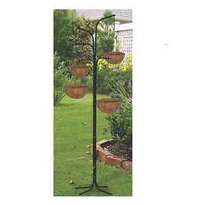 BRAND NEW 4 BASKET TREE CASCADE HANGING TREE BASKET PANT STAND FOR PATIO