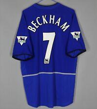 MANCHESTER UNITED 2002 2003 THIRD FOOTBALL SHIRT JERSEY #7 BECKHAM NIKE SIZE L