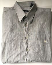 EMME UNO ~Made In Italy~ Men's Gray Check LongSleeve ButtonFront Cotton Shirt L