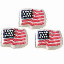 Patriotic Flag USA Icing Decorations 9 ct from Wilton #726- NEW