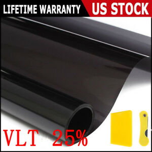 "Uncut Window Tint Roll 25% VLT 20 "" 10 ft Feet Home Commercial Office Auto Film"