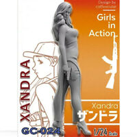 1/24 Xandra Girls in Action Resin Model Kits Unpainted GK Unassembled