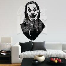 The Joker Joaquin Phoenix The Joker MOVIE DC Portrait Wall Art Sticker Home UK