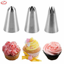 3pcs Russian Flower Icing Piping Nozzles Cupcake Cake Decoration Tip Baking Tool